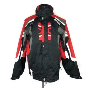 Spyder men's ski jacket size large red/black